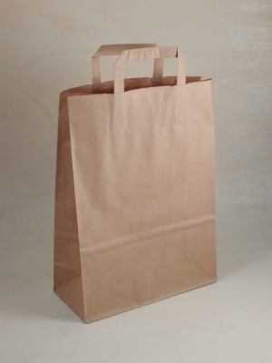 350 SHOPPERS IN CARTA AVANA MIS. 22X12X29 CM.